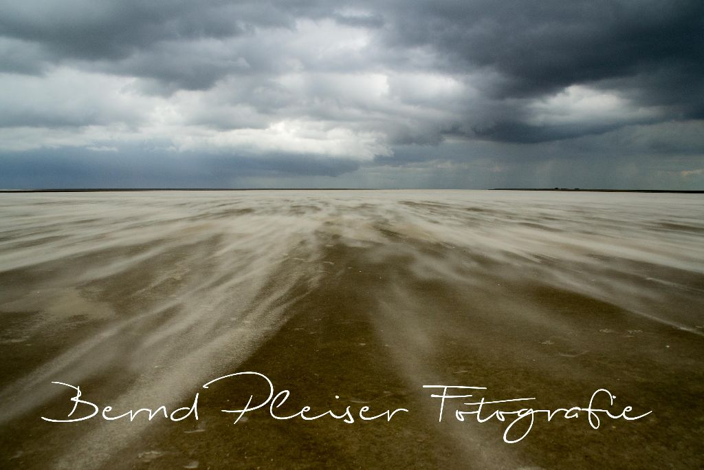 Sturm im Wattenmeer